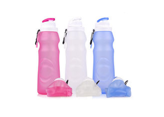China Fashion Anti Wrestling Silicone Collapsible Sports Bottle / Flexible Water Bottle supplier