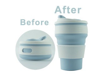 China Eco Friendly Collapsible Silicone Drinking Cups Heat Resistant For Coffee / Tea supplier