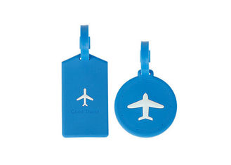China Popular Multi Colored Silicone Travel Luggage Tags Foldable FDA Certified supplier