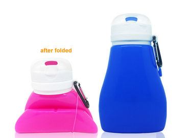 Students Silicone Flexible Drink Bottle 450ml Collapsible Water With Filter