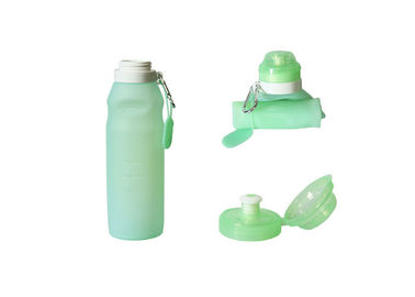 China 500 Ml - 600 Ml Leak Proof Collapsible Silicone Water Bottle With Logo Customized supplier