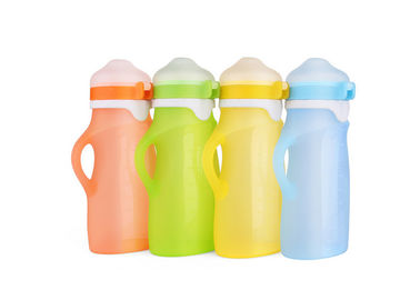 China 250ml Collapsible Silicone Water Bottle BPA Free Silicone Squeeze Bottle For Beverage supplier