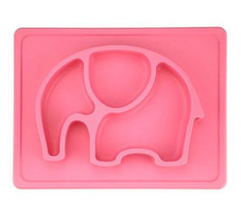China BPA Free Silicone Tableware Pink Color Kids Silicone Placemat Safe For Dishwasher supplier