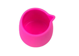 China Round Shape Silicone Drinking Cups Heat Resistant Silicone Camping Cups For Milk Juice supplier