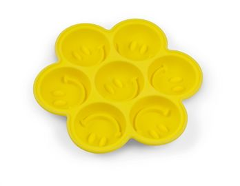 China Custom Novelty Smile Face Shaped Silicone Ice Tray Molds For Home OEM / ODM supplier