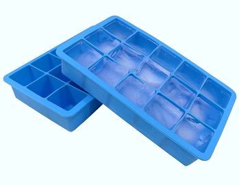 China Fancy 15 Cavity Silicone Chocolate Molds , Easy Make Large Square Ice Cube Tray supplier