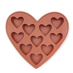 China 10 Cavities Silicone Heart Shaped Ice Cube Trays For Chocolate Ice Cream Cake supplier