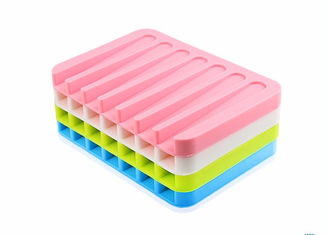 China Bathroom Soft Silicone Soap Holder ,Thickness Custom No Smell Silicone Soap Box supplier