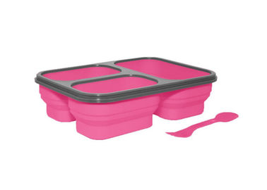 China Heat Resistant Silicone Food Storage Containers , Collapsible Silicone Lunch Container supplier