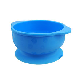 China Round Shap Mini Pinch Soup Silicone Baby Bowls / baby feeding bowls With Ears supplier