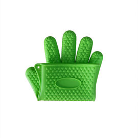 China Slip Resistant Silicone Baking Set Heat Resistant Silicone Glove Oven Mitts supplier