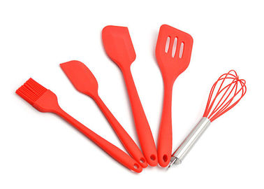 China Shape Customized Silicone Kitchen Utensils Set 5 Piece Non Scratch Cooking Sets supplier