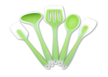 China Non Stick 5 Piece Silicone Utensil Set , High Heat Resistant Cooking Utensils supplier