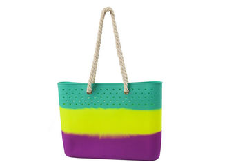 China Popular Colorful Silicone Beach Bag Non Toxic / Odorless For Shopping supplier