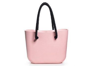 China Ladies Stylish Silicone Tote Bag , Waterproof Silicone Rubber Beach Bag For Travelling supplier