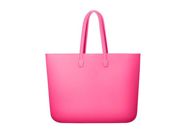 China Fashionable Summer Silicone Beach Tote , Waterproof Silicone Shopping Bag With Handle supplier
