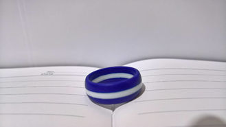 China Magic Secret Striped Ladies Custom Silicone Wedding Rings Waterproof Fireproof supplier