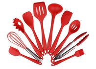 Eco Friendly 10 Piece Silicone Utensil Set / Heat Resistant Silicone Cooking Utensils