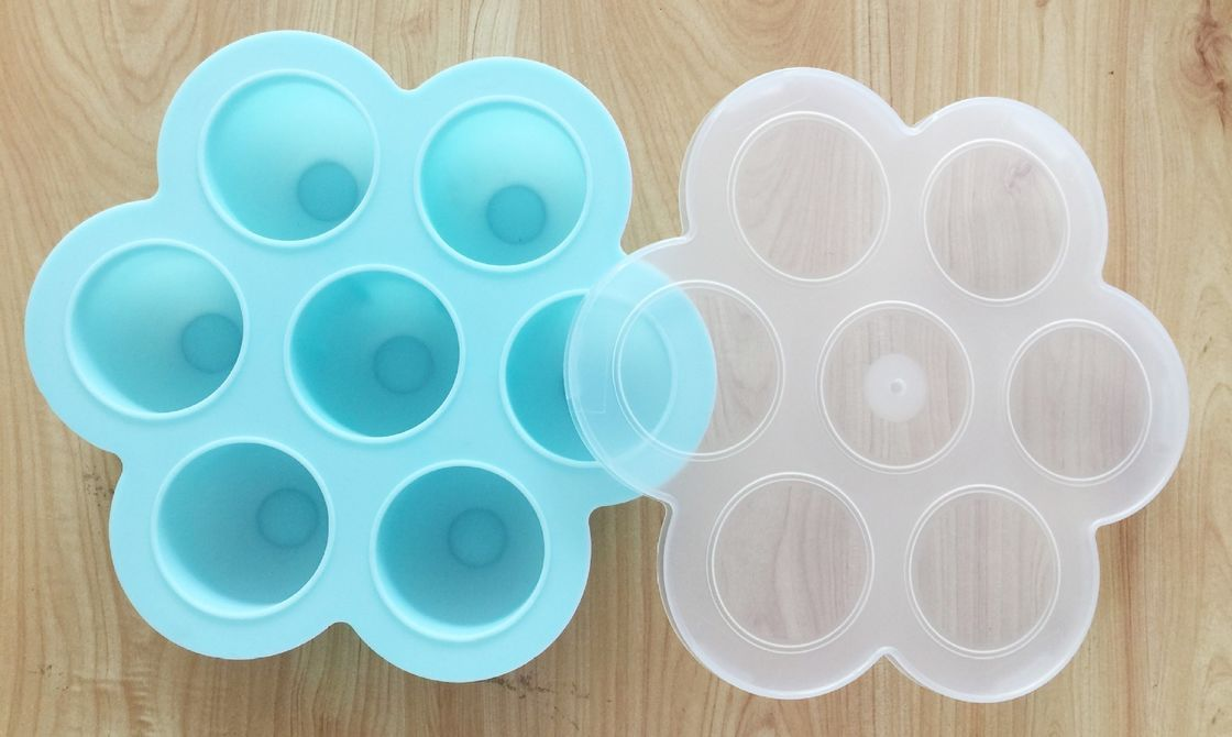 Silicone Egg Bites With Pp Lid For Baby Food Storage