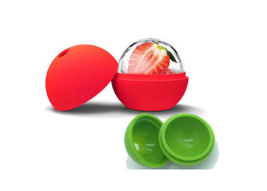Safe Silicone Ice Cube Trays / Silicone Ice Sphere Molds For Making Ice Ball