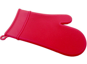 Custom Red Silicone Oven Gloves , Durable Waterproof Silicone Oven Mitt Set