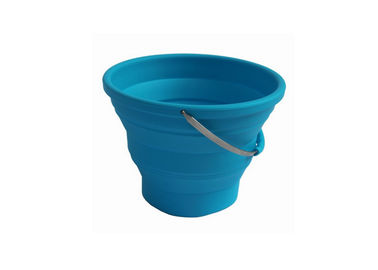 Multi Function Silicone Folding Bucket , Collapsible Silicone Bucket With Handle