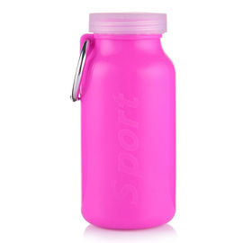 China Heat Resistant Silicone Travel Bottles , BPA Free Collapsible Silicone Water Bottle factory