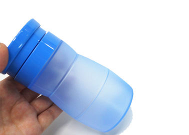 Flexible Collapsible Water Bottles , Unbreakable Silicone Squeeze Water Bottle