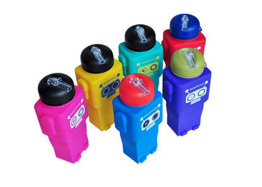 Robot Shaped Collapsible Silicone Water Bottle BPA Free Easy Wash / Non Toxic