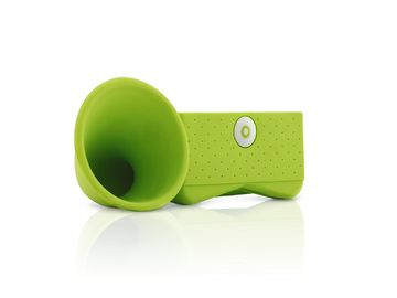 Eco Friendly Silicone Iphone Speaker , Portable Silicone Horn Speaker