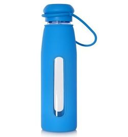 China Lovely Borosilicate Silicone Covered Glass Water Bottle For Home / Office factory