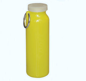 China BPA Free 600ml Silicone Drink Bottle , Silicone Foldable Water Bottle For Outdoor Sport factory