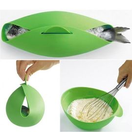 China Round Shape Silicone Kitchen Utensils Silicone Collapsible Bowl For Baking Fish factory