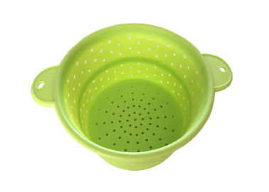 Kitchen Craft Collapsible Colander , Silicone Collapsible Strainer For Fruit / Vegetables