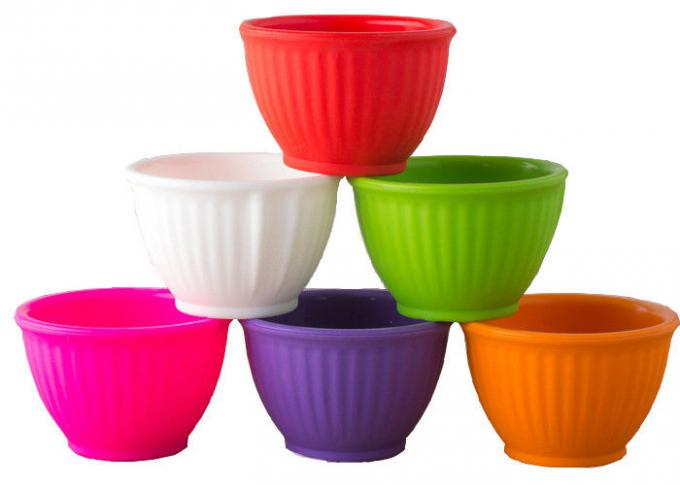 Microwave Safe Silicone Tableware Colorful Baby Feeding Bowl Thickness Customized