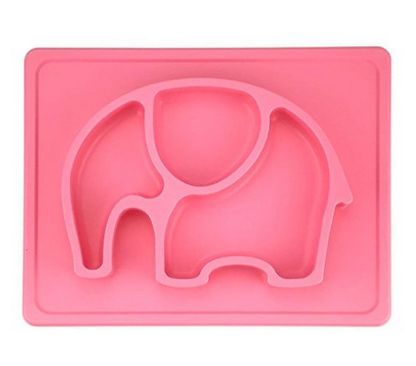 BPA Free Silicone Tableware Pink Color Kids Silicone Placemat Safe For Dishwasher