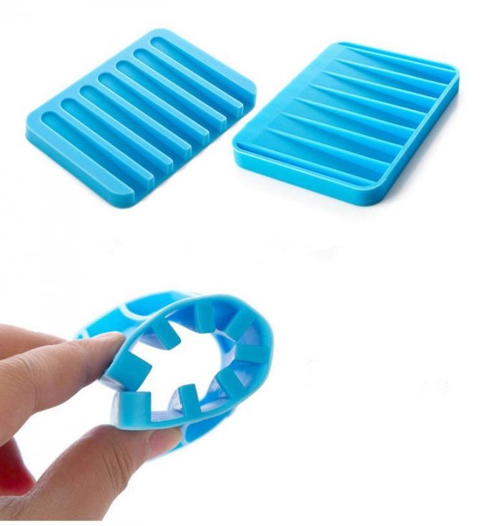 Bathroom Soft Silicone Soap Holder ,Thickness Custom No Smell Silicone Soap Box