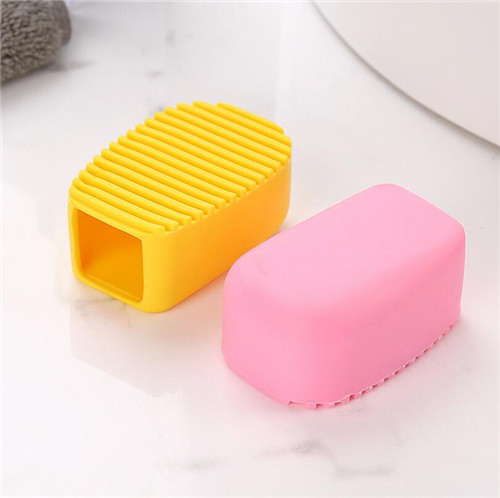 Mini Handheld Silicone Household Items / Silicone Clothes Collar Brush Washing