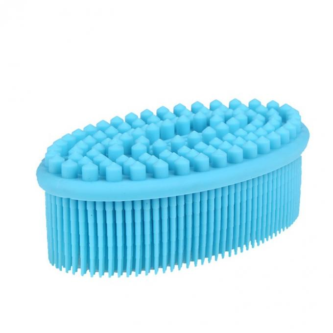 Oval Shape Soft Silicone Body Brush , Tasteless / Non Toxic Silicone Body Scrubber