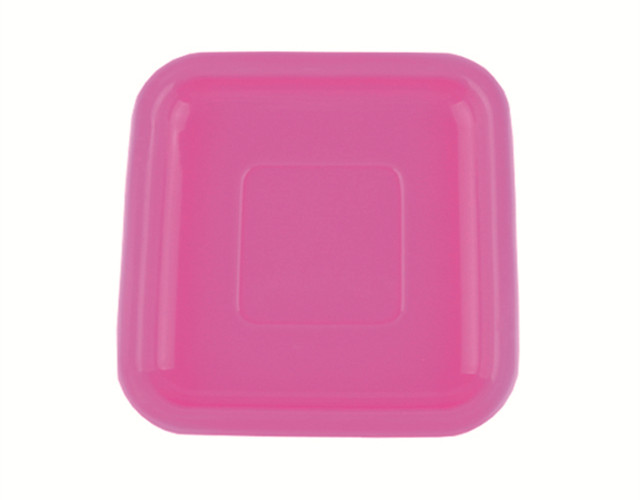 Multi Color Silicone Tableware 6 Inch Square Silicone Plate For Color Changing Spoon
