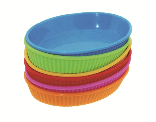 Odor Resistant Silicone Suction Plate , Round Shape Silicone Kids Plate