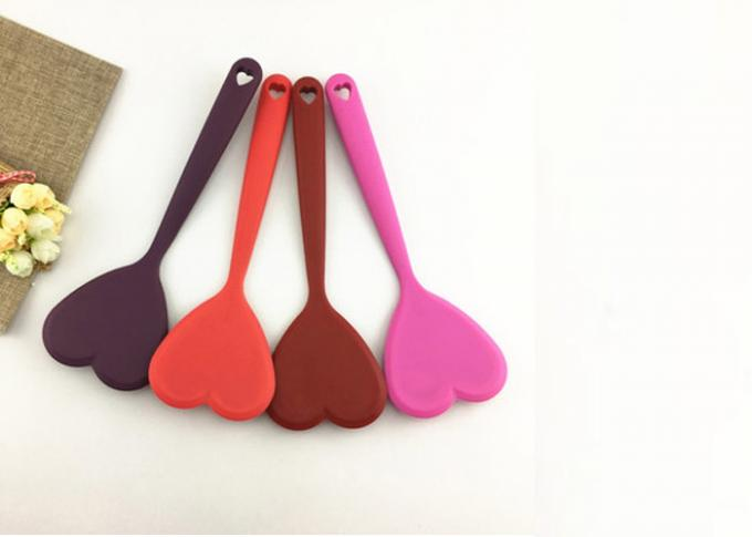 Kitchen Helper Food Silicone Kitchen Utensils Spoon Heart Shaped Easy To Clean