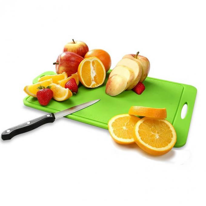 Kitchenware Silicone Chopping Board Blocks / Mat Rectangular Shape With Scale
