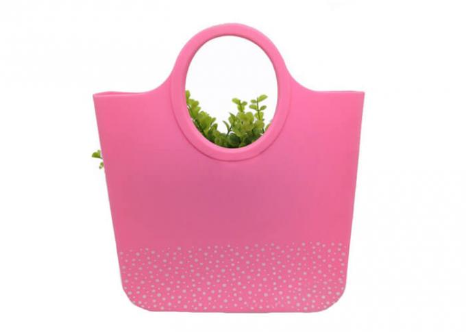 Food Grade Silicone Beach Bag / Candy Color Silicone Shoulder Bag For Party