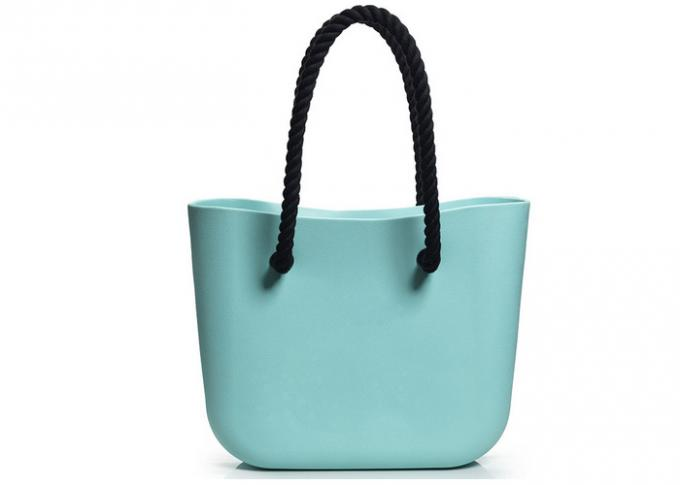 Ladies Stylish Silicone Tote Bag , Waterproof Silicone Rubber Beach Bag For Travelling
