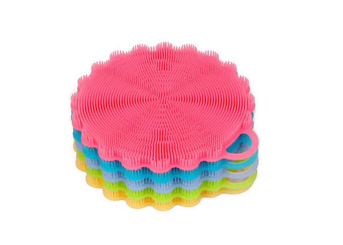 Multi Purpose Silicone Wash Brush , Silicone Dish Brush For Fruit Cleaner