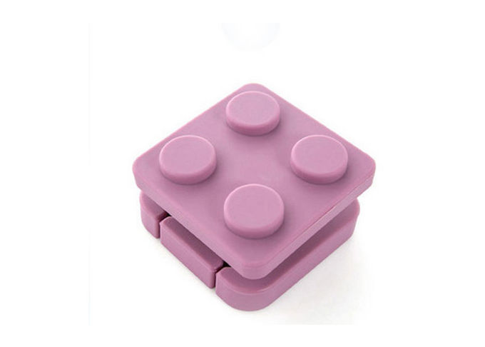 Portable Silicone Travel Containers Collapsible Silicone Earphone Storage Box / Case