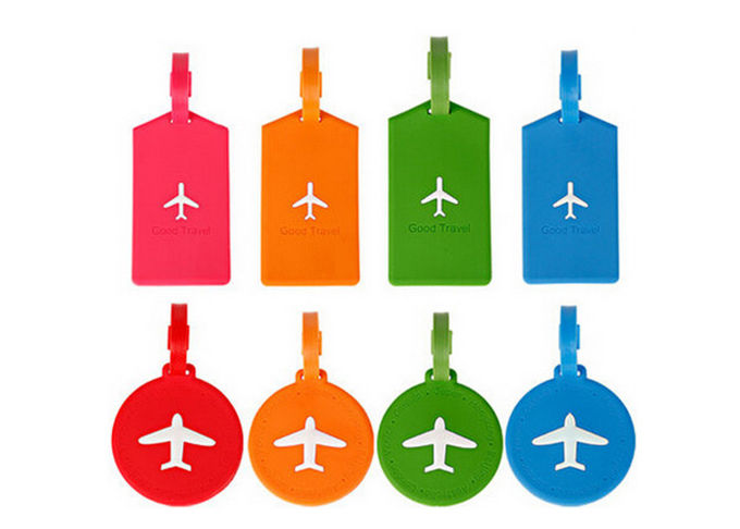 Popular Multi Colored Silicone Travel Luggage Tags Foldable FDA Certified