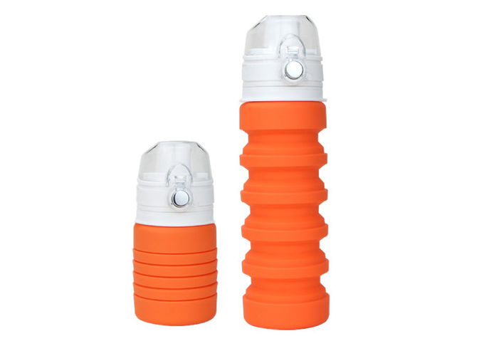 Anti Slip Durable Collapsible Silicone Water Bottle Heat Resistant For Outside Activity
