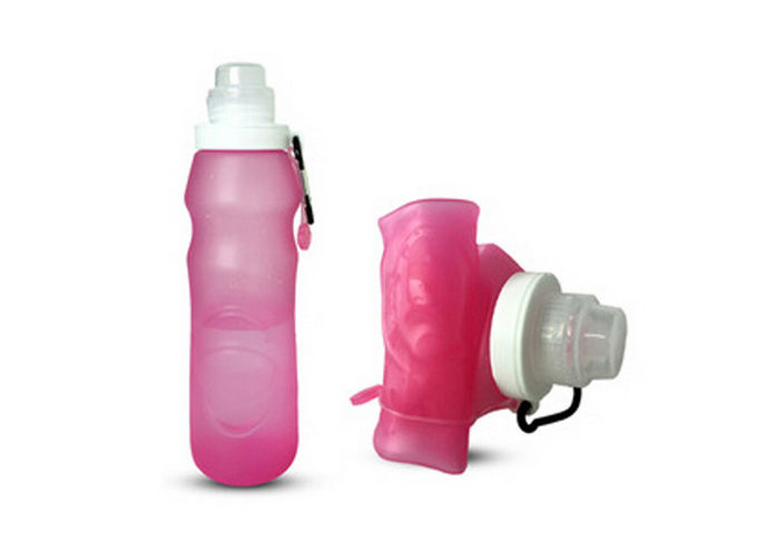 Travel Portable Soft Collapsible Silicone Water Bottle For Sport Meeting